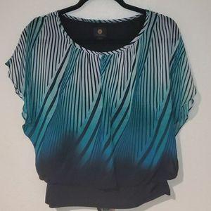JM Collection Flutter - Sleeve Blouse. Size: PT-M